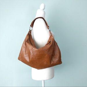 HOBO Int'l Leather Shoulder Hobo Bag Nutmeg Toffee